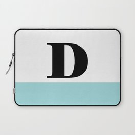 Monogram Letter D-Pantone-Limpet Shell Laptop Sleeve