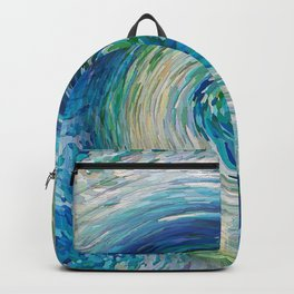 Wave to Van Gogh III re-make seamless texture Backpack