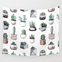 cactus succulents pattern