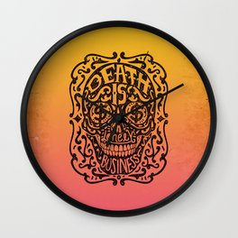 Death is a Lonely Business Wall Clock