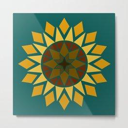 Native Sunflower Metal Print
