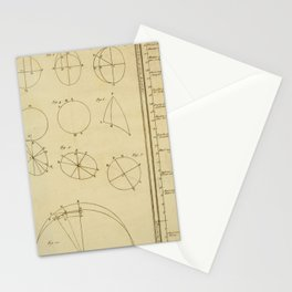 Jérôme Lalande's Astronomie (1771) - Geometric Calculations regarding Planetary Bodies 11 Stationery Cards