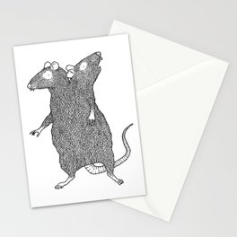 Two Headed Rat, I Love You Stationery Cards