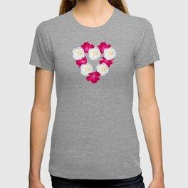 Rose Heart Electric Blue T-shirt