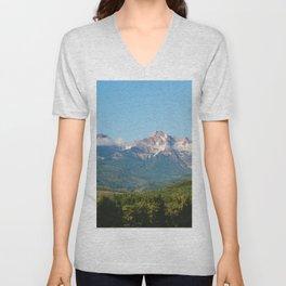 Sunny Mountain Summer Unisex V-Neck