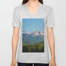Sunny Mountain Summer Unisex V-Neck