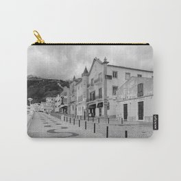 Near the Beach in Nazare BW Carry-All Pouch