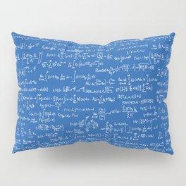Math Equations // Royal Blue Pillow Sham