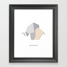Eluhfuhnt Framed Art Print