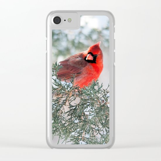 Remembering.... (Northern Cardinals) Clear iPhone Case