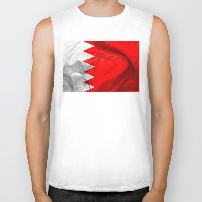 Bahrain Flag Biker Tank
