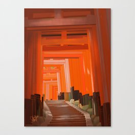 Vermillion Canvas Print
