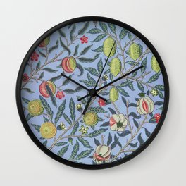 Fruit or Pomegranate by William Morris (1834-1896). Wall Clock