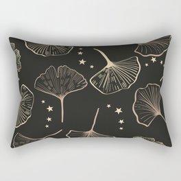 Hand Drawn Ginkgo Biloba Pattern Rectangular Pillow