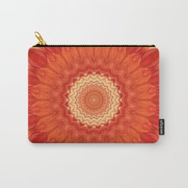 Mandala orange red Carry-All Pouch