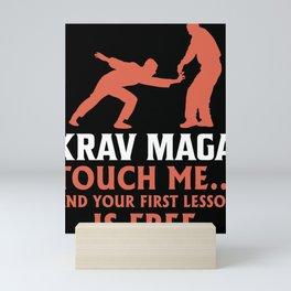 Krav Maga martial arts fighter kickboxing Mini Art Print
