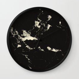 Black Marble and Blush Yellow #1 #decor #art #society6 Wall Clock