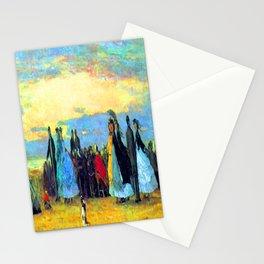 Eugene Boudin Beach at Villerville Stationery Cards