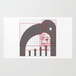 Elephants Grid Rug
