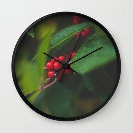 Red Berries Wall Clock
