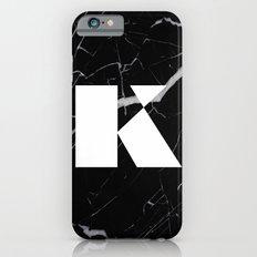 Black Marble - Alphabet K Slim Case iPhone 6s