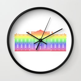 White House . Rainbow Wall Clock