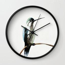 Winter Hummingbird Wall Clock