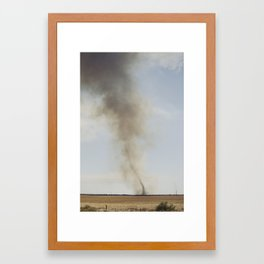 Fire tornado in rural Australia Framed Art Print