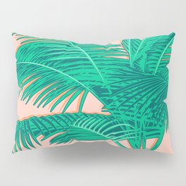 Palm trees on pink Pillow Sham