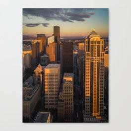 Downtown Seattle Sunset Canvas Print