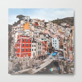 The five lands, cinque terre, Riomaggiore, Unesco village, UNESCO site, Liguria, sea village, cliff villages Metal Print