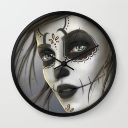 Day of the Dead Sugar Skull Girl Ultra HD Wall Clock