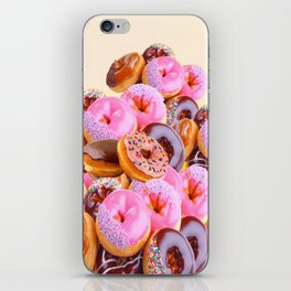 PHOTO PINK & CHOCOLATE  DONUTS ART iPhone Skin