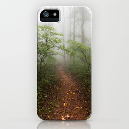 Adventure Ahead - Foggy Forest Digital Nature Photography iPhone Case