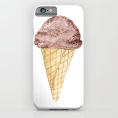 Watercolour Illustrated Ice Cream - Chocolate Dream iPhone 6 Slim Case