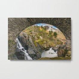 Pont Pen y Benglog Bridge Snowdonia Metal Print