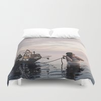 neverland Duvet Covers featuring Finding Neverland by Mila Photographie