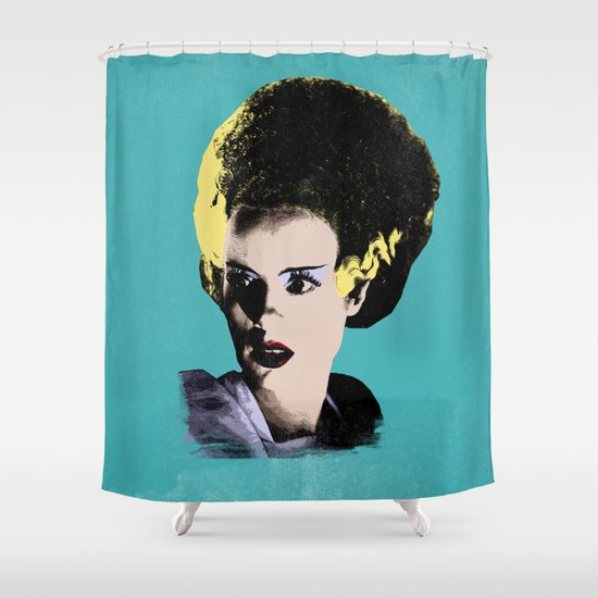The Beautiful Bride of Frankenstein Shower Curtain
