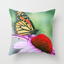 BUTTERFL GARDEN Throw Pillow