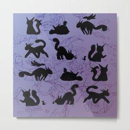 Cat Silhouette Metal Print