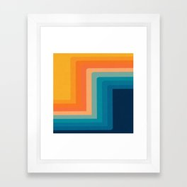 Retro 70s Color Lines Framed Art Print