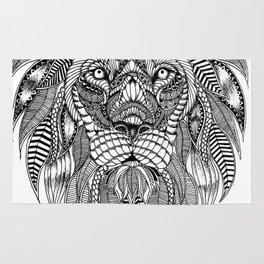 Lion face art Rug