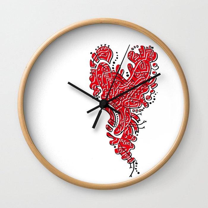 Cell Heart Wall Clock