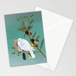 Doves in Olive Tree Stationery Cards