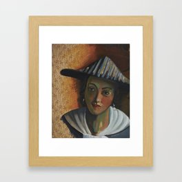 After: Girl with a Flute Framed Art Print