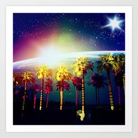 coachella Art Prints featuring Coachella Palms by Jason Chase