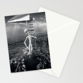 The Arrival Black and White Stationery Cards