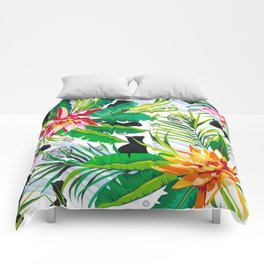Pattern Cats between plants Comforters