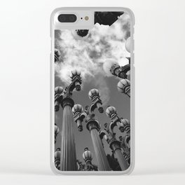 Lamp Posts Clear iPhone Case