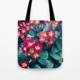 Pretty Little Red & Yellow Flowers Tote Bag